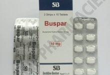 سعر برشام بوسبار BUSPAR 10MG 20 TAB