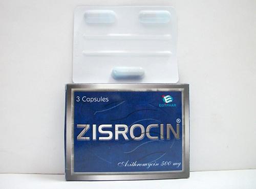 سعر زيسروسين ٥٠٠ ZISROCIN 500 MG 3 CAPS.
